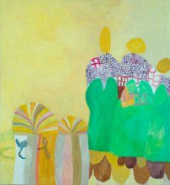 Tidigare verk 2, måleri av Susanna Nygren, Olja på duk 4, 95X110cm